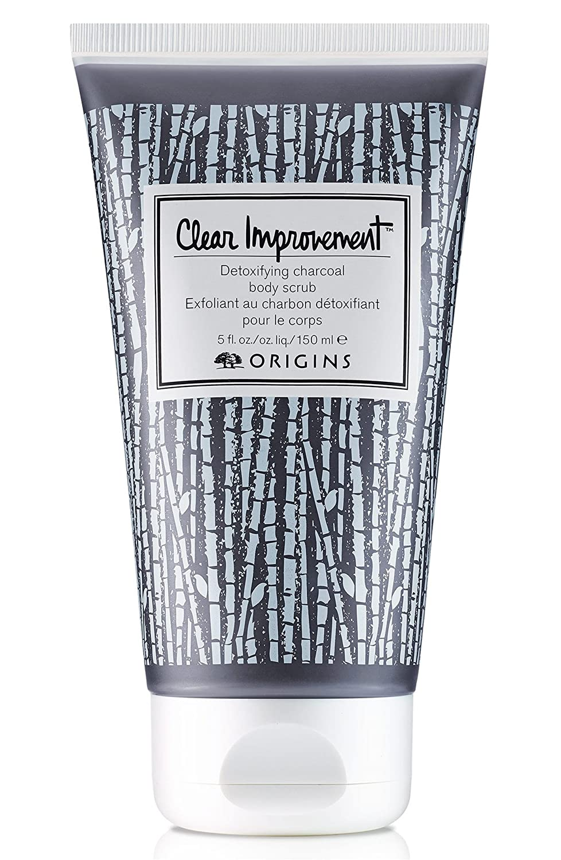 Origins 717334202016 Clear Improvement Detoxifying Charcoal Body Scrub 5.0 Oz, 5 Oz, BLACK
