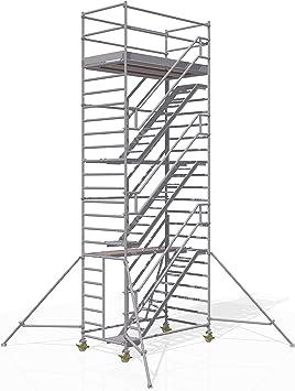 Altec - Torre de escaleras (2,5 x 1,3 m, 8,2 m): Amazon.es: Bricolaje y herramientas