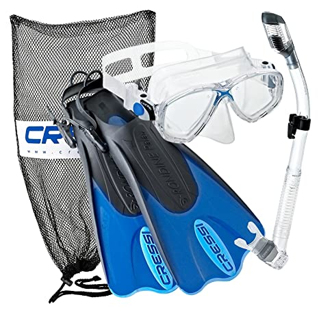 Amazon.com   Cressi Palau Mask Fin Snorkel Set with Snorkeling Gear ... 41a069e6cb