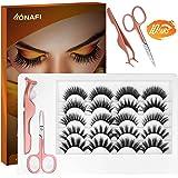 ONAFI False Eyelashes Natural Look Lashes Wispy Mink Cross Eyelashes Reusable Fluffy Fake Lashes [10 Pairs Pack]