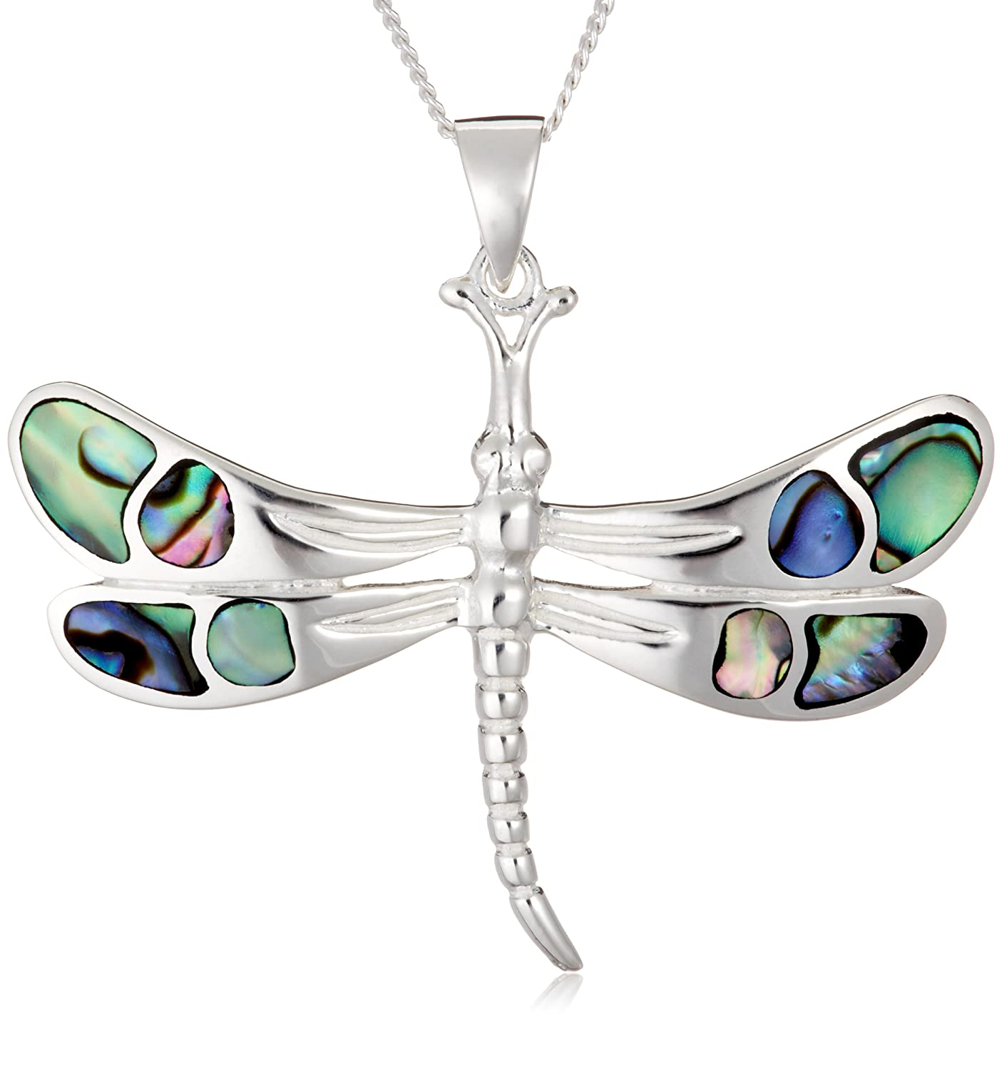 green bluedolphingold sterling inch necklace pendant silver com dragonfly