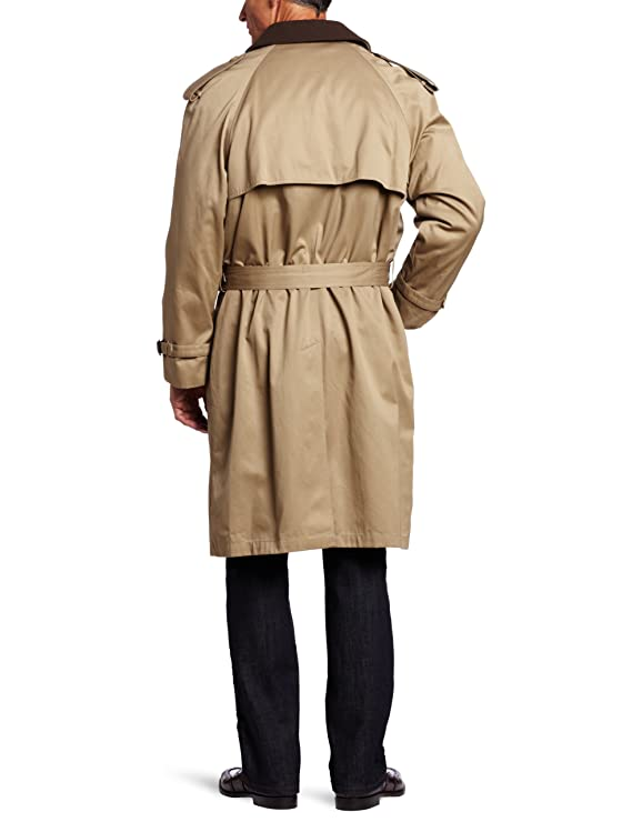 Hart Schaffner Marx Big and Tall Luxury Trench Rain Coat Double Breasted