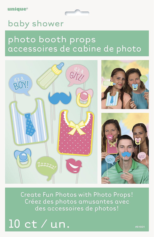 61939 Unique Party Paquete de 10 Accesorios de Cabina de Fotos Fiesta de Piratas
