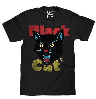 ebcea36400b1 Amazon.com  Tee Luv Black Cat Fireworks T-Shirt - Licensed Black Cat ...