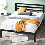 ZINUS Mia Metal Platform Bed Frame with Headboard / Wood Slat Support / No Box Spring Needed / Easy Assembly, Queen