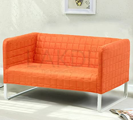 Lakdi The Furniture Co Fully Cushioned 2 Seater Sofa With Stainless