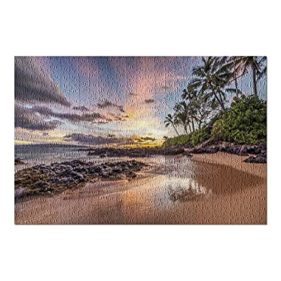 Maui, Hawaii - Colorful Sunset from a Secret Cove 9020403 (Premium 500 Piece Jigsaw Puzzle for Adults, 13x19, Made in USA!): Toys & Games