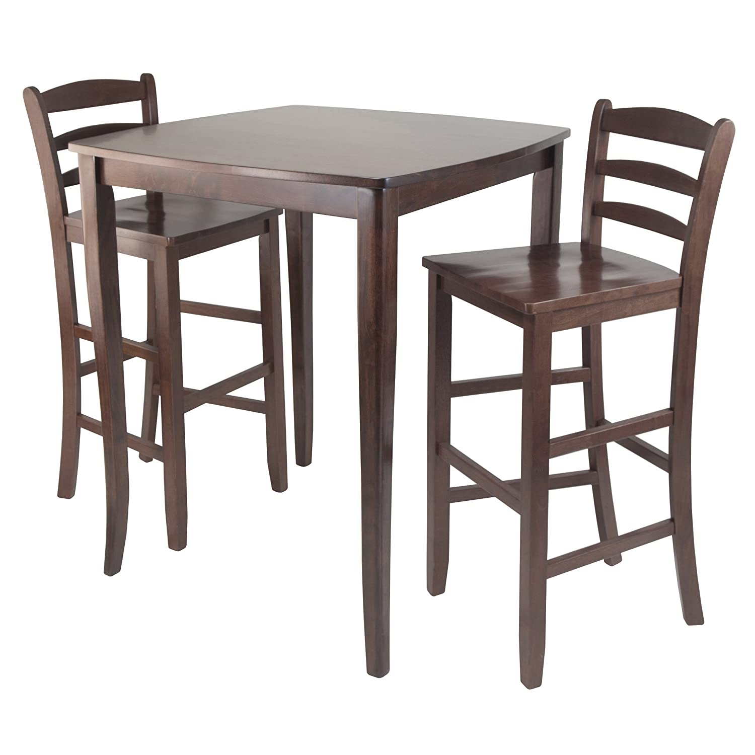 Amazon.com   Winsome Inglewood High/Pub Dining Table With Ladder Back  Stool, 3 Piece   Tables