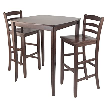 Winsome Inglewood High/Pub Dining Table With Ladder Back Stool, 3 Piece