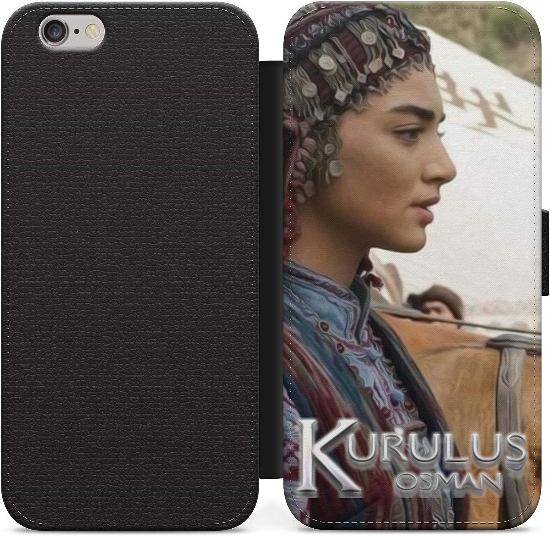 Hermosa Bala Hatun Kurulus Osman Funda de cuero Flip teléfono con tarjeta cartera para iPhone 11 Pro