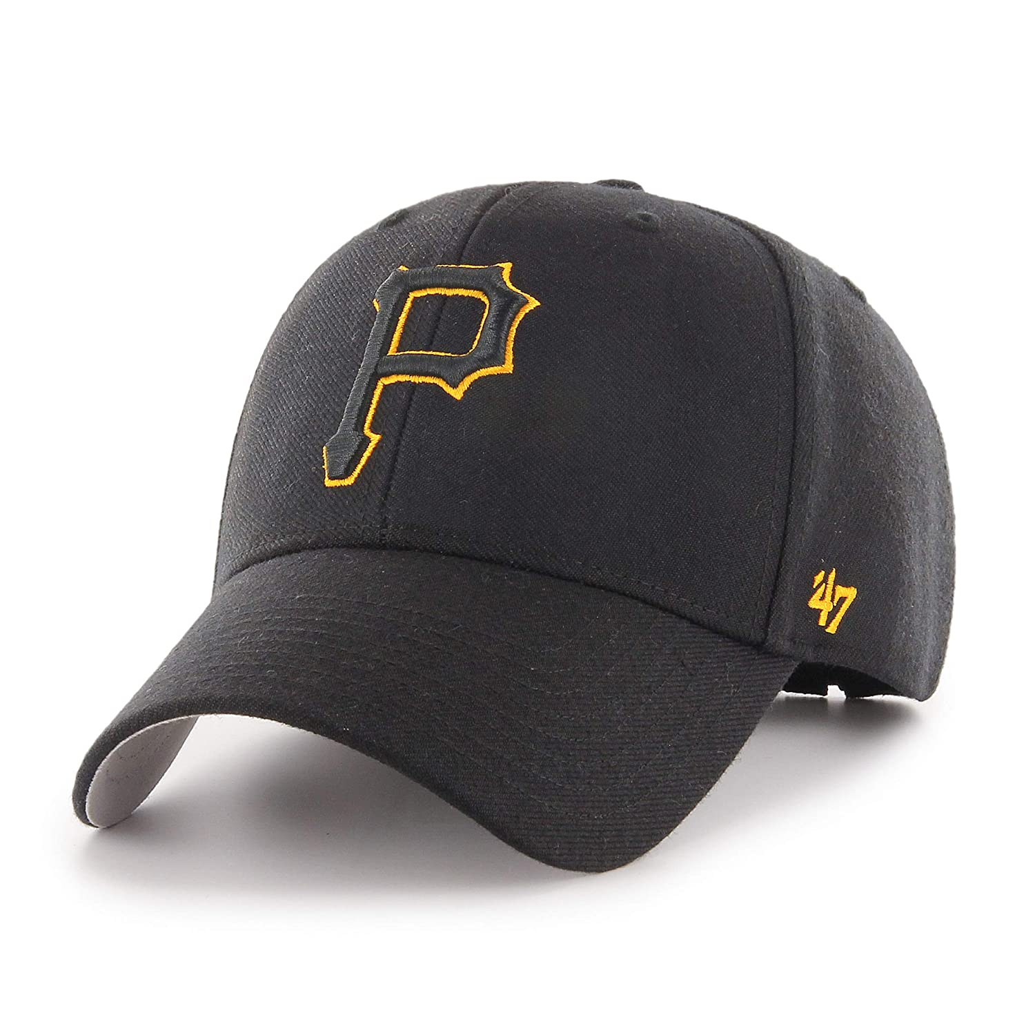 6740efc21d2f4 Amazon.com   47 Brand Pittsburgh Pirates MVP Cap - Black  Clothing