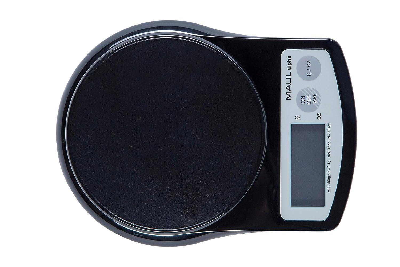 500 g Maul 1640590 Pr/äzisionswaage MAULalpha mit Batterie schwarz