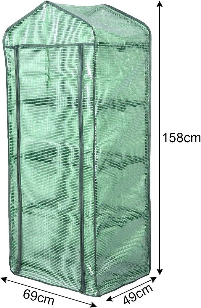 EUGAD 2X Invernadero de Jardín 69x49x158cm Invernadero Plástico Terraza para Cultivo de Plantas Florete Invernadero Vivero PE Carpas de Invernadero Tomate: Amazon.es: Jardín