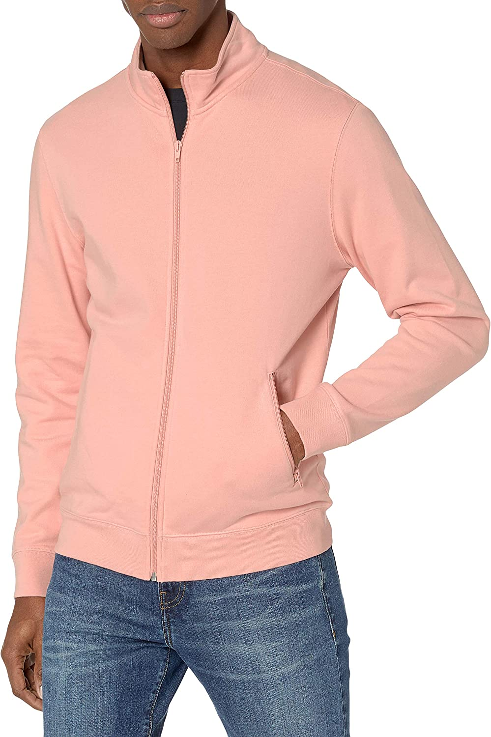 athletic-warm-up-and-track-jackets Hombre Marca Goodthreads Lightweight French Terry Track Jacket