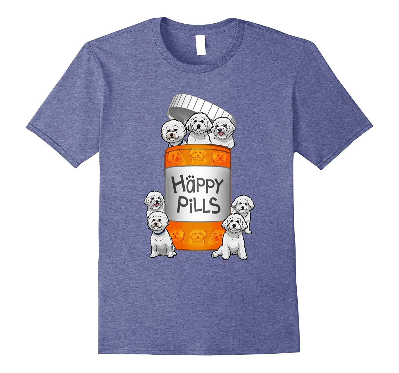 Bichon Frise Happy Pills T-shirt-Vaci