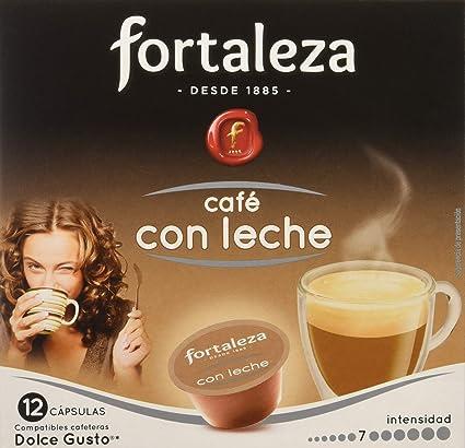 Café FORTALEZA - Cápsulas de Café Con Leche Compatibles con Dolce Gusto - Pack 3 x 12 - Total 36 cápsulas: Amazon.es ...