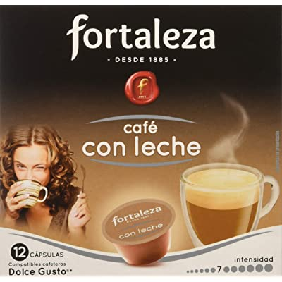 Café FORTALEZA - Cápsulas de Café Con Leche Compatibles con Dolce Gusto - Pack 3 x 12 - Total 36 cápsulas