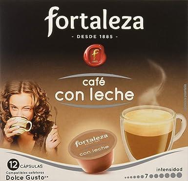 Café FORTALEZA - Cápsulas de Café Con Leche Compatibles con Dolce Gusto - Pack 3 x