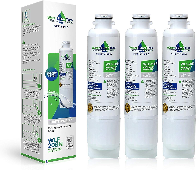 DA29-00020B Samsung Refrigerator Replacement Water Filter - WLF- 20B Triple-pack