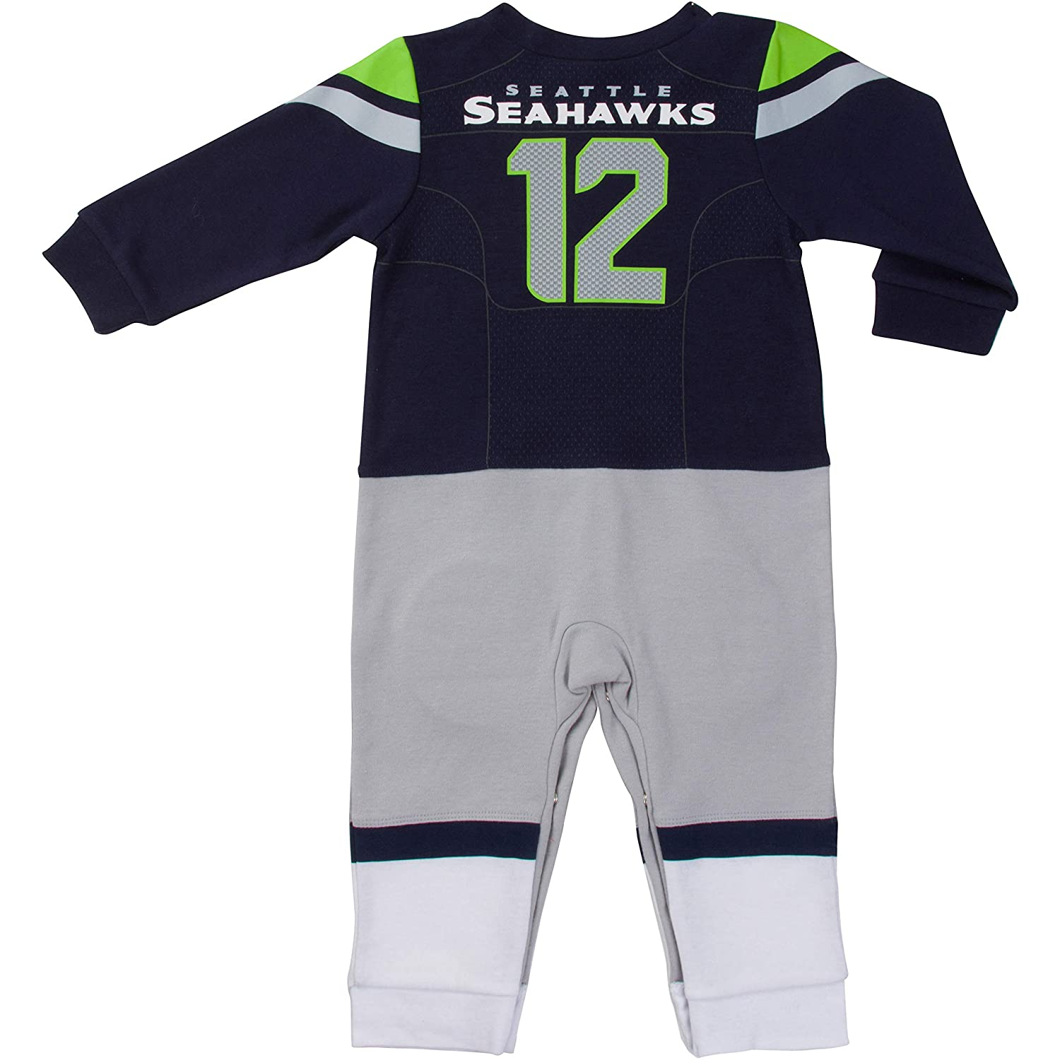 ed331728 Amazon.com : NFL Seattle Seahawks Unisex-Baby Footysuit Coverall ...