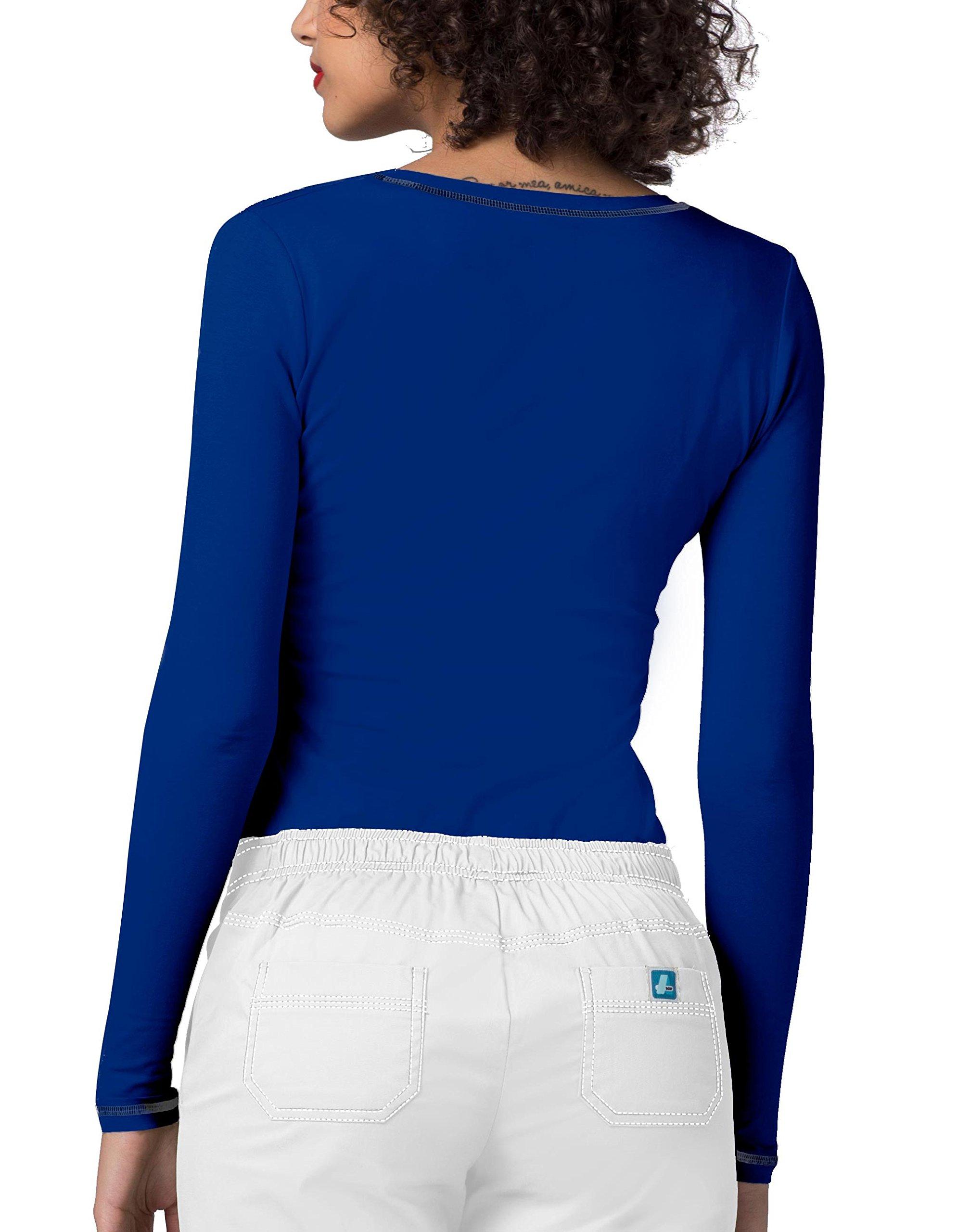 Adar Womens Comfort Long Sleeve Fitted T-Shirt Underscrub Tee- 3400 - Royal Blue - L by ADAR UNIFORMS (Image #2)