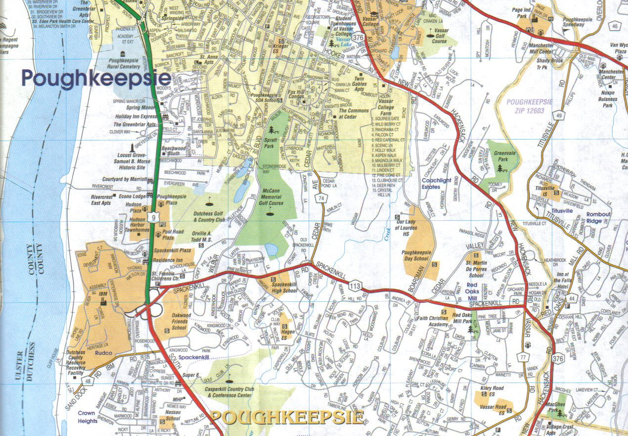 By Jimapco Dutchess County New York Street Road Map [Map]: Jimapco ...