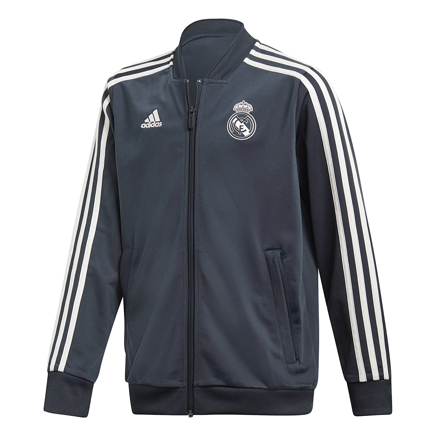 adidas Kinder Real Polyester Trainingsanzug Jacke: