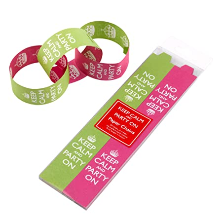 KEEP CALM AND PARTY PAPER CHAINS PINKLIME BIRTHDAY PARTY EVENTS