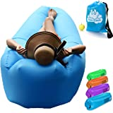 COSY CLOUD Inflatable lounger air sofa couch bag - Blow up Portable outdoor furniture for beach pool camping festival