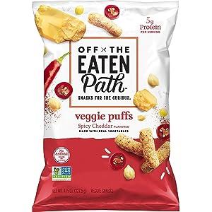 Off the Eaten Path Veggie Puffs Spicy Cheddar, 4.5oz