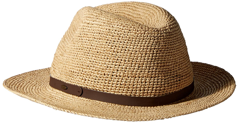 aa25a7df36488c SCALA Men's Fine Crochet Raffia Safari Leather at Amazon Men's Clothing  store: