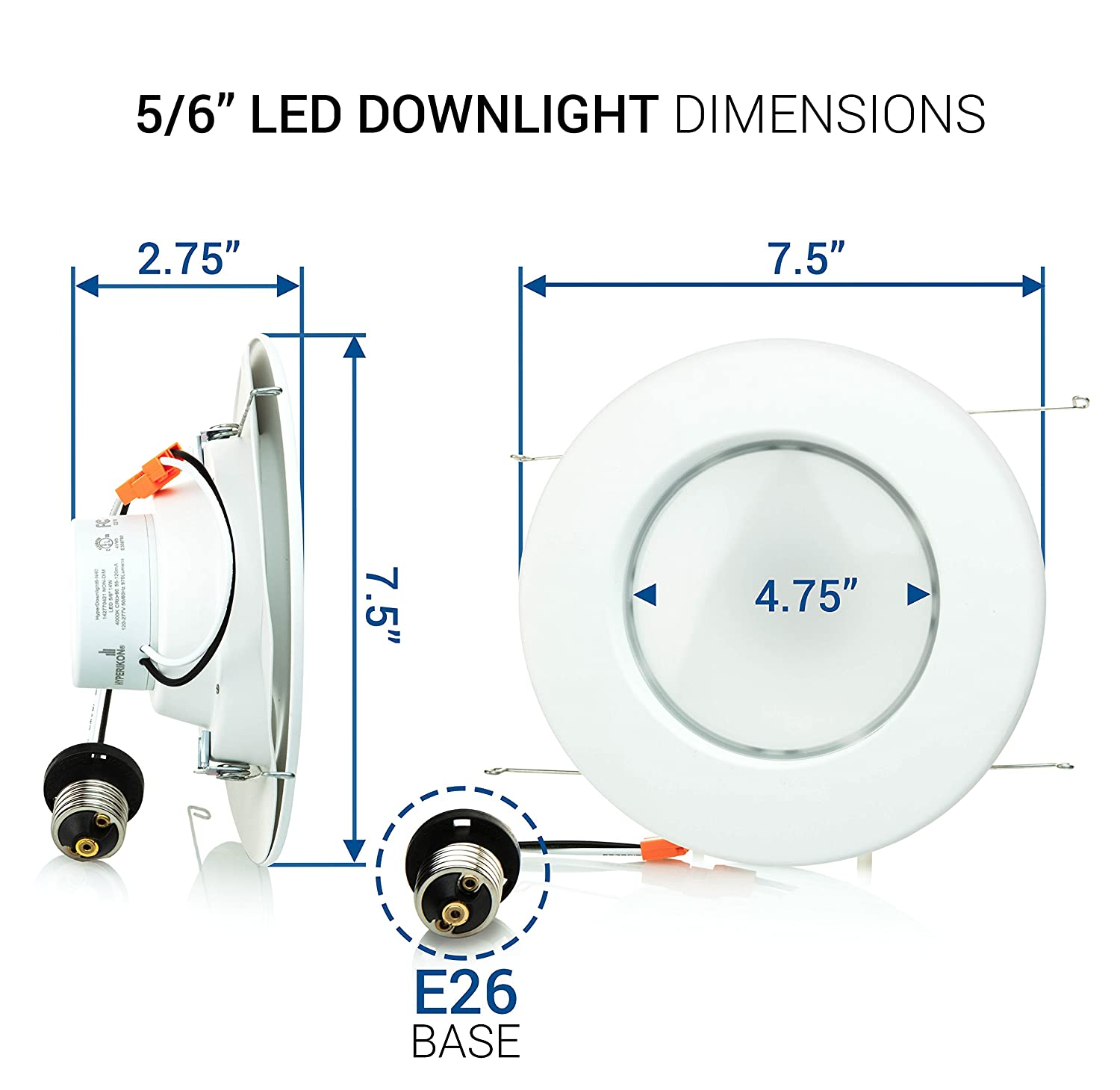 Hyperikon 6 Inch Led Downlight 5 Compatible Dimmable 14w Wiring Circuit Downlights 75w Replacement Retrofit Recessed Lighting Fixture 4000k Daylight Glow Cri94