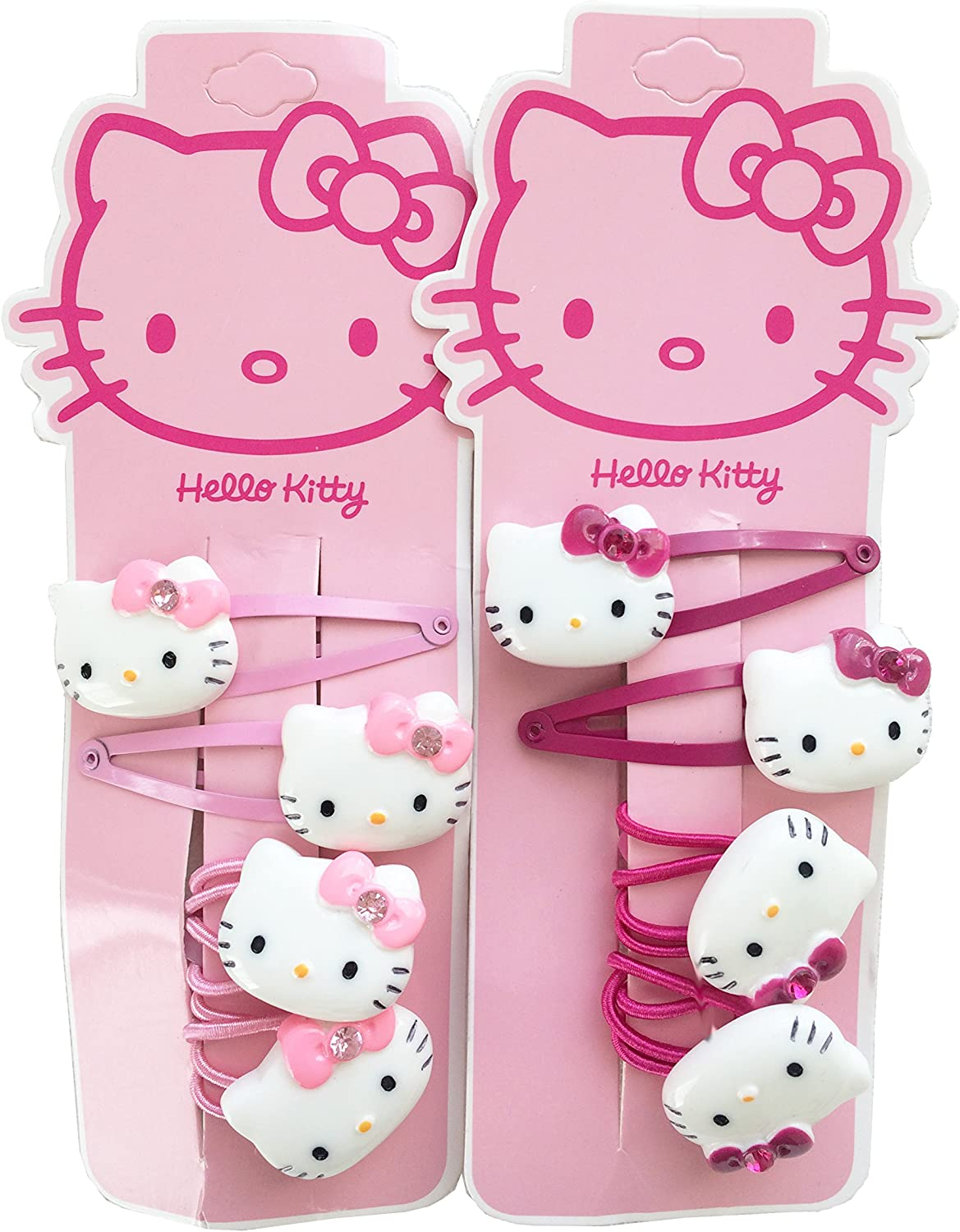 Licensed Product Girls Hello Kitty Hair Tie Set Pink 3D Character Diamante Bow