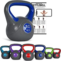 MSports kettlebell, 2-20 kg, inclusief oefenposter, kogelhalter