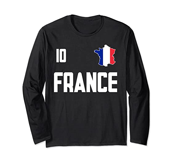 factory authentic d7104 4e391 Amazon.com: France T-Shirt French Jersey Style Long Sleeve ...