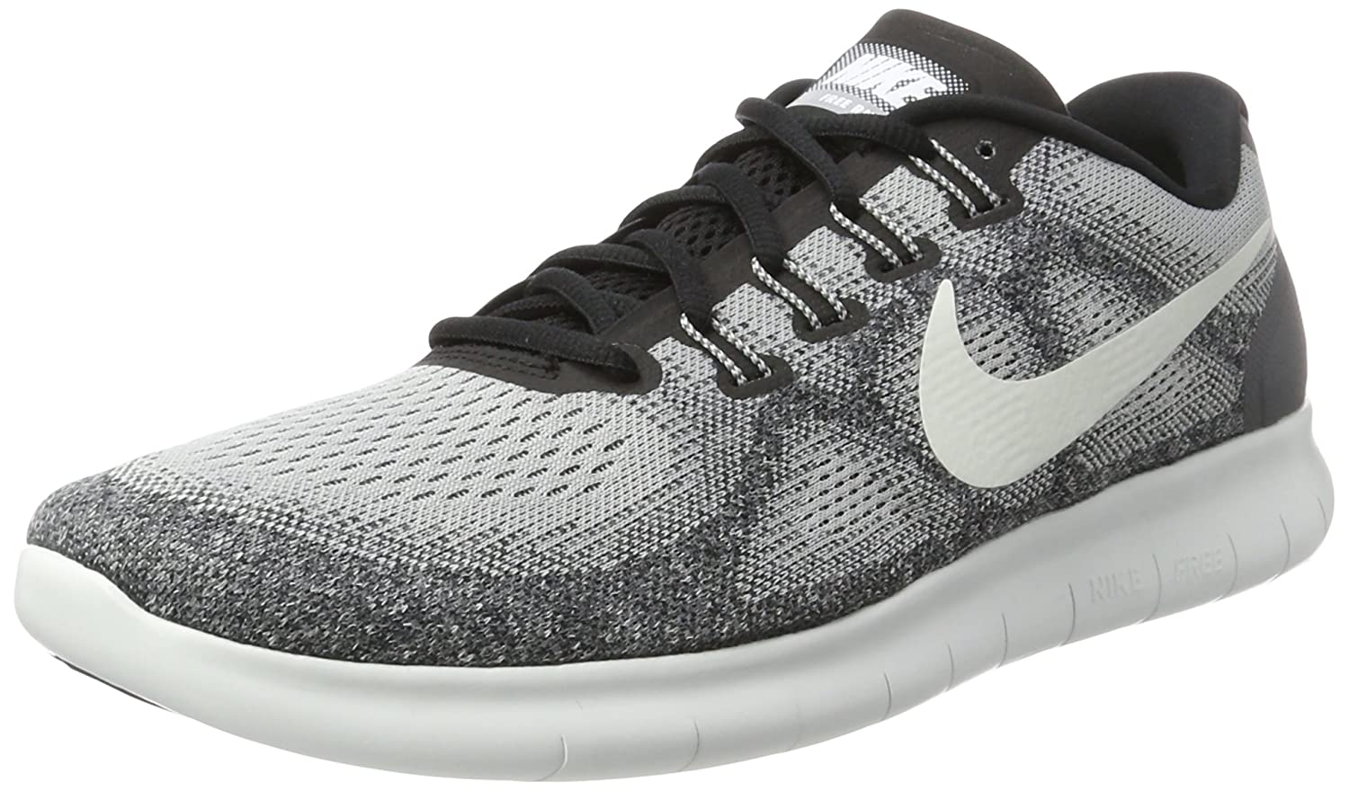 NIKE Men's Free RN Running Shoe B01JZQR232 12 D(M) US|Wolf Grey/Off White-pure
