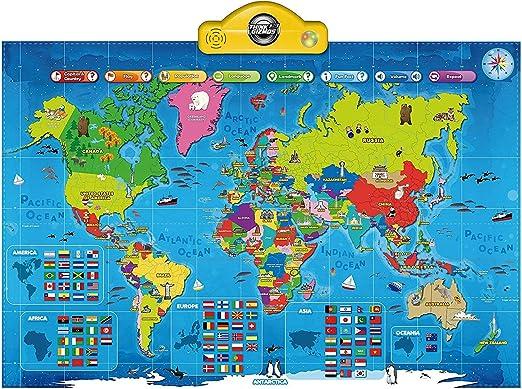 Think Gizmos Mapa Parlante Interactivo para niños TG661 - Presione ...