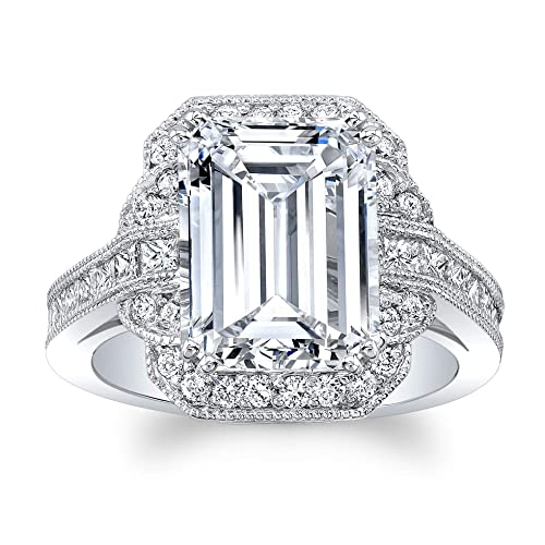 540809f9fa75 Image Unavailable. Image not available for. Color  Women s 14 karat white  gold engagement ring ...