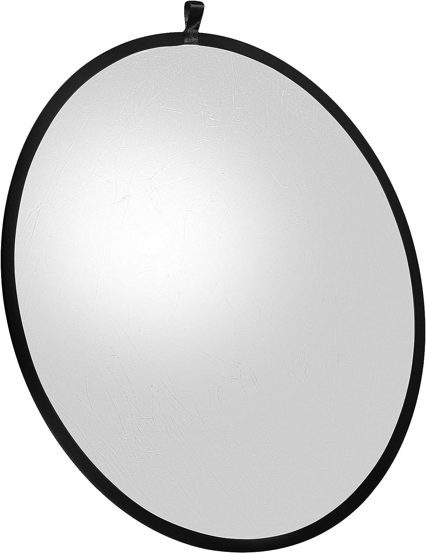 107 cm Color Plateado//Blanco Walimex Reflector Plegable