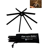 Fire Lighter Spider - Fire Pit Log Holder For Starting and Maintaining Campfires