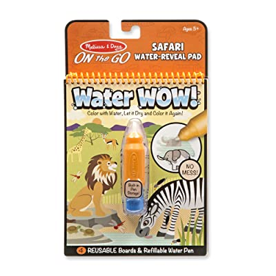Melissa & Doug On the Go Water Wow! Reusable Water-Reveal Activity Pad - Safari: Toy: Toys & Games