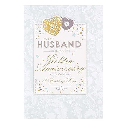 Hallmark For Husband Tarjeta de felicitación para bodas de oro ...