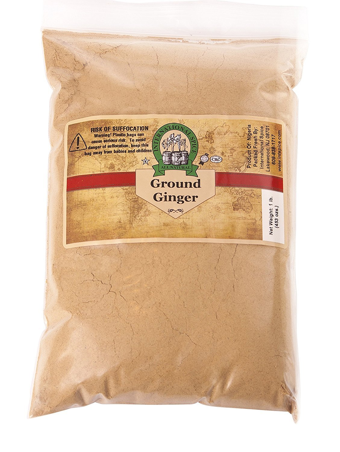 International Spice Ground Ginger (1 LB (16 ounce))