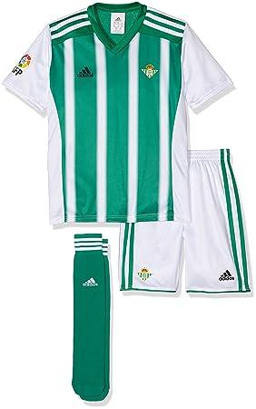 Adidas H Minikit Conjunto Real Betis Balompie 2015-2016, Unisex niños, Verde/Blanco (Custom), 152: Amazon.es: Deportes y aire libre