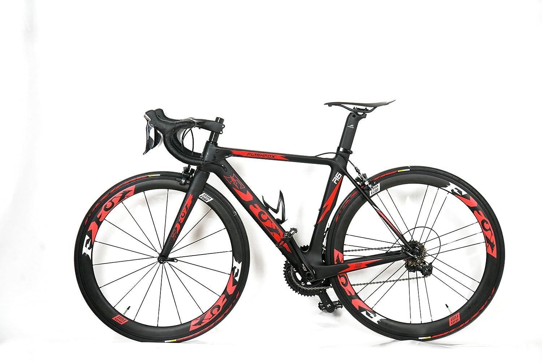 新品  FLASH FOX  ロードバイク自転車 フルカーボン自転車 組み立て完成品   情熱ユニークなデザイン~サドル&ボトルケージ B07DN6L3G7 49cm|UD艶消し UD艶消し 49cm