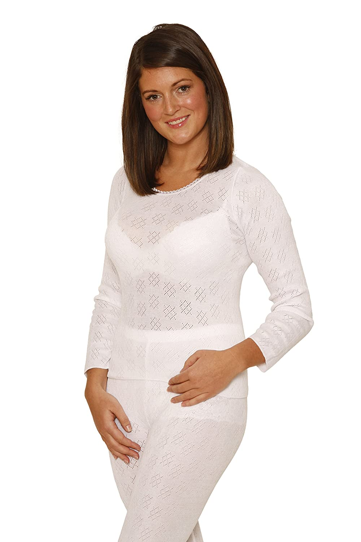 6 Pack OCTAVE/® Ladies//Womens Thermal Underwear Long Sleeve T-Shirt//Vest//Top
