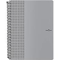 Caderno Grip Pautado 80 Folhas, Faber-Castell,  Prata