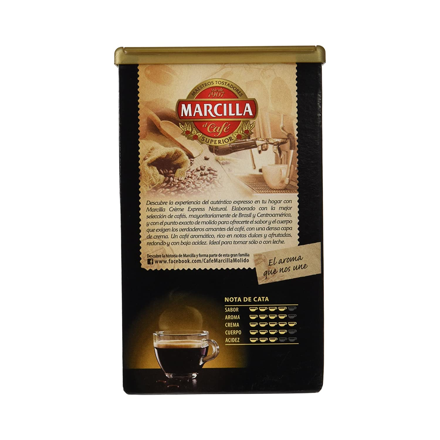Amazon.com : Marcilla - Creme Express Natural - gemahlener Kaffee - 250 gr : Grocery & Gourmet Food