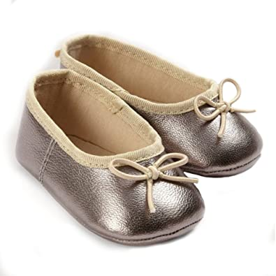 buy best new high half price Mamas & Papas Baby Ballerina Shoes - Silver: Amazon.co.uk ...
