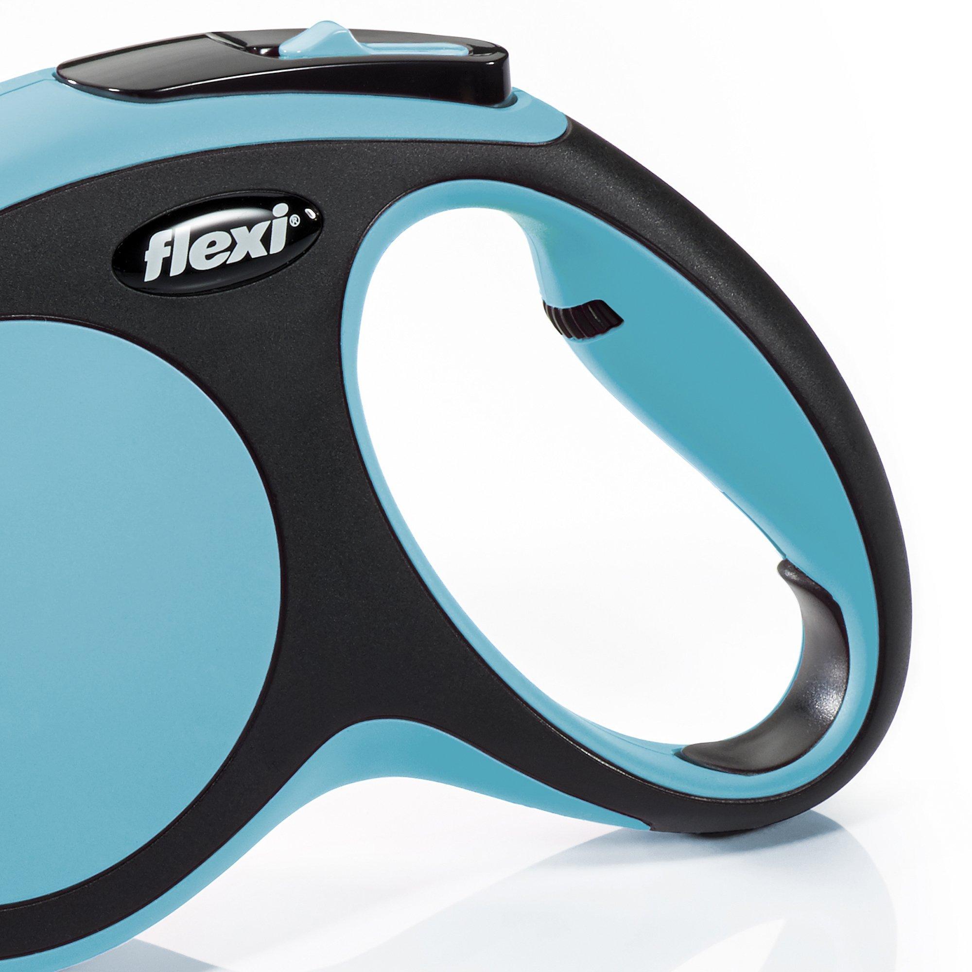 Flexi New Comfort Retractable Dog Leash (Tape), 16 ft, Medium, Blue by Flexi (Image #2)